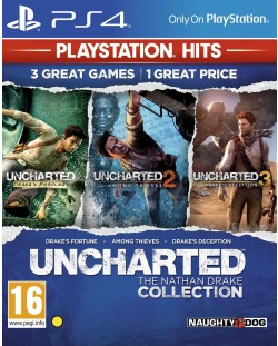 Uncharted: The Nathan Drake Collection - Пакет от 3 игри (PS4)