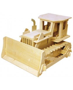 Дървен 3D пъзел Robo Time от 179 части - Булдозер с RC управление