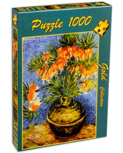 Пъзел Gold Puzzle от 1000 части - Ведрица в медена ваза