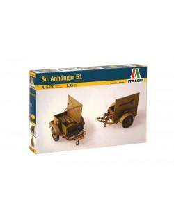 Военен сглобяем модел - Германско ремарке тип SD. ANHANGER 51