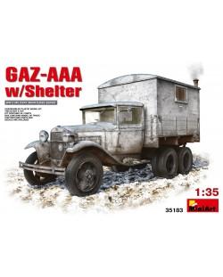 Военен сглобяем модел - Съветски военен автомобил GAZ-AAA с фургон