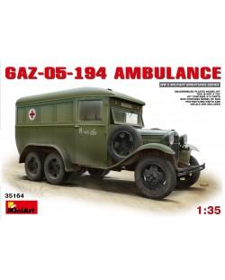 Военен сглобяем модел - Съветски военен автомобил GAZ-05-194 Линейка