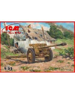 Военен сглобяем модел - Германско противотанково оръдие 7,62 мм Пак 36 (German Anti-Tank Gun 7,62 cm Pak 36(r), WWII)