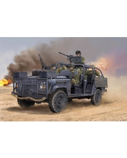 Военен сглобяем модел - Американски брониран автомобил за специални операции (Ranger Special Operations Vehicle RSOV with MG)