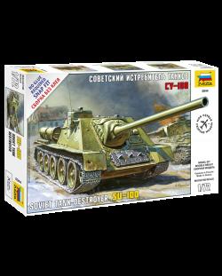 Военен сглобяем модел - Съветска Самоходна Артилерийска Установка СУ-100