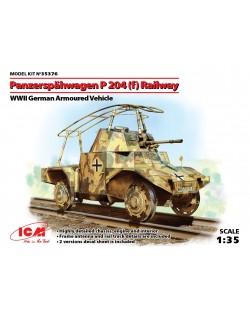 Военен сглобяем модел - Германска бронирана машина Панар П 204 за релсов път (German Armoured Vehicle Panzerspahwagen P 204(f) Railway, WWII)