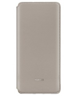 Калъф Huawei - Vogue P30 Pro, Wallet Cover, khaki