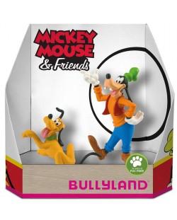 Комплект фигурки Bullyland Mickey Mouse & Friends - Плуто и Гуфи