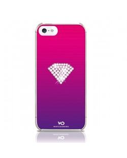 White Diamonds Rainbow за iPhone 5 -  розов