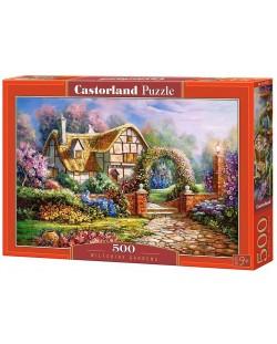 Пъзел Castorland от 500 части - Уилтшърските градини, Карл Валенте
