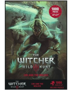 Пъзел Dark Horse от 1000 части - Witcher 3 Wild Hunt Ciri and the Wolves