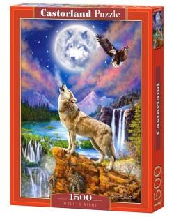 Пъзел Castorland от 1500 части - Нощта на вълка, Марчело Корти