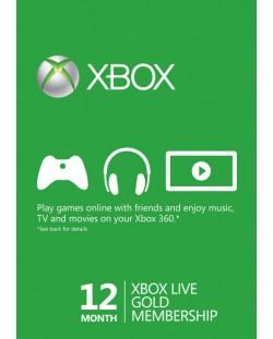 Xbox Live Gold Card (12 месеца)