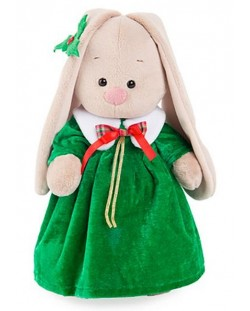 Плюшена играчка Budi Basa - Зайка Ми, с коледна рокля, 32 cm