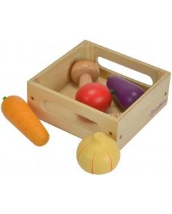 Дървен комплект Eichhorn - Кутия със зеленчуци