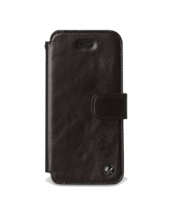 Zenus Prestige Estime Diary за iPhone 5 -  тъмнокафяв