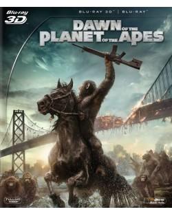 Зората на Планетата на маймуните 3D (Blu-Ray)