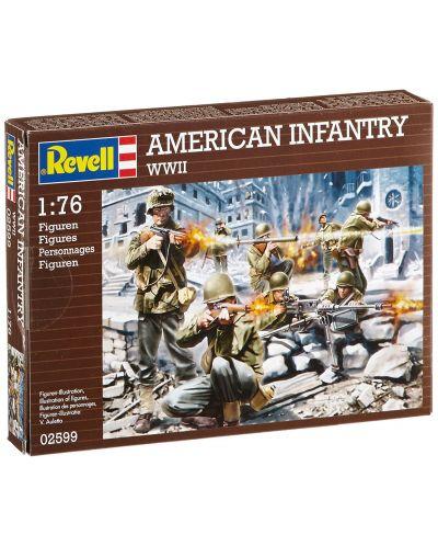 Фигури Revell - American Infantry WWII (02599) - 1