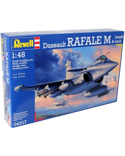 Сглобяем модел на военен самолет Revell - Dassault Rafale M & bomb rack (04517) - 1