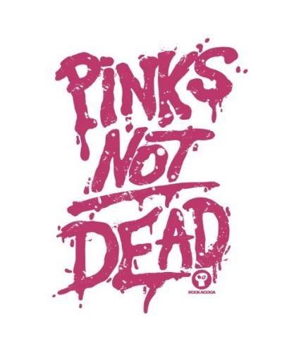 Тениска RockaCoca Pink's not dead, бяла, размер S - 2