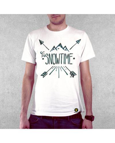 Тениска RockaCoca Hipster Snow, бяла, размер L - 2