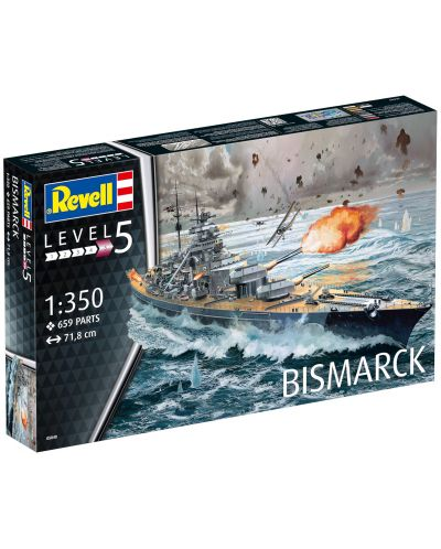 Сглобяем модел на военен кораб Revell - Battleship BISMARCK (05040) - 8