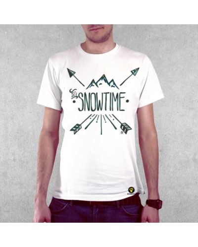 Тениска RockaCoca Hipster Snow, бяла, размер M - 2