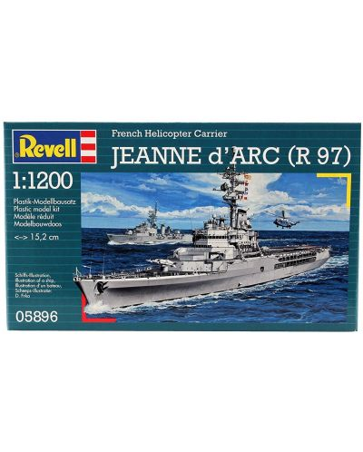 Сглобяем модел на военен кораб Revell - French Helicopter Carrier JEANNE d'ARC (R97) (05896) - 2