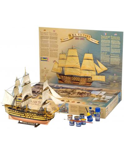 Сглобяем модел на кораб Revell - H.M.S. Victory Trafalgar Set (05758) - 1