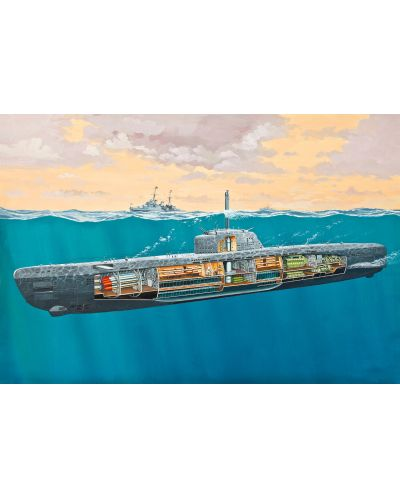 Сглобяем модел на подводница Revell - U-Boat Typе XXI (05078) - 2
