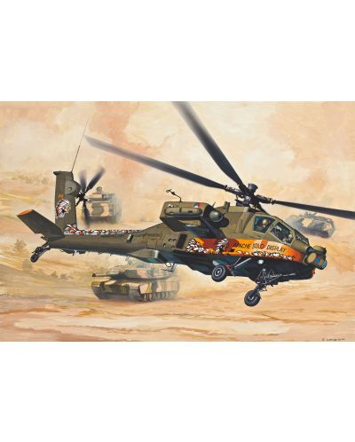 Сглобяем модел на военен хеликоптер Revell Easykit - AH-64 Apache (06646) - 4