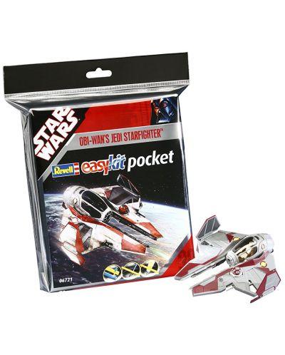 Сглобяем модел на космически кораб Revell Easykit Pocket STAR WARS -  ObiWan's Jedi Starfighter (06721) - 2