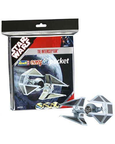 Сглобяем модел на космически кораб Revell Easykit Pocket STAR WARS - TIE Interceptor (06725) - 2