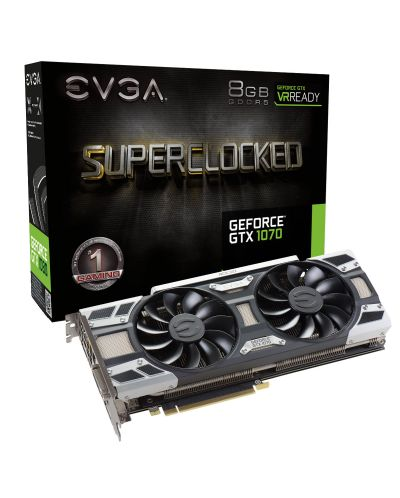 Видеокарта EVGA Nvidia GeForce GTX 1070 SuperClocked Edition (8GB GDDR5) - 1
