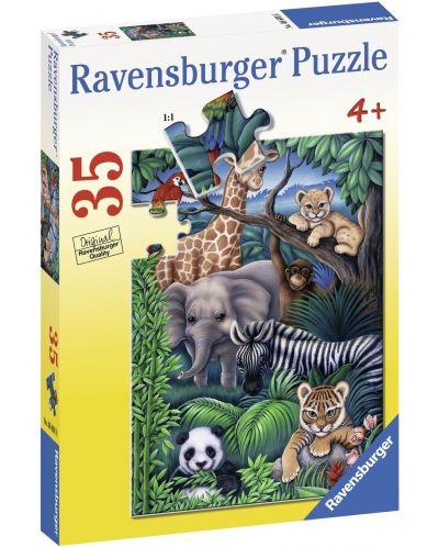 Пъзел Ravensburger от 35 части - Животинско царство - 1