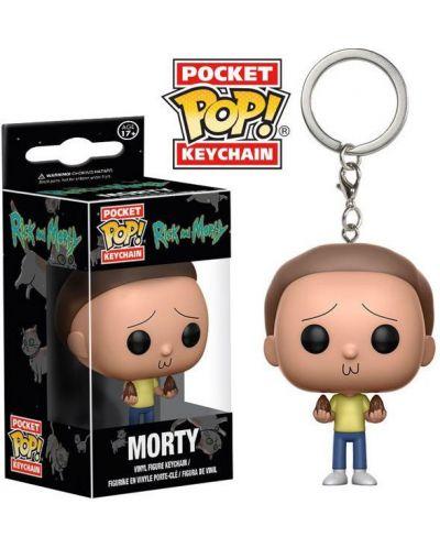 Ключодържател Funko Pocket Pop! Rick and Morty - Morty, 4 cm - 2