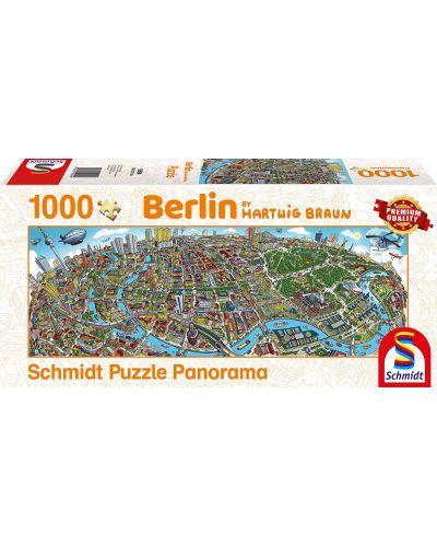 Панорамен пъзел Schmidt от 1000 части - Берлин, Хартуиг Браун - 1