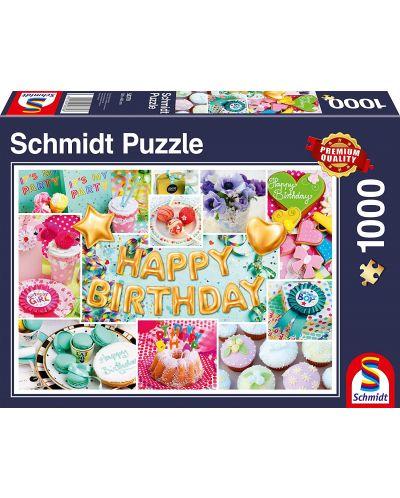 Пъзел Schmidt от 1000 части - Честит рожден ден - 1