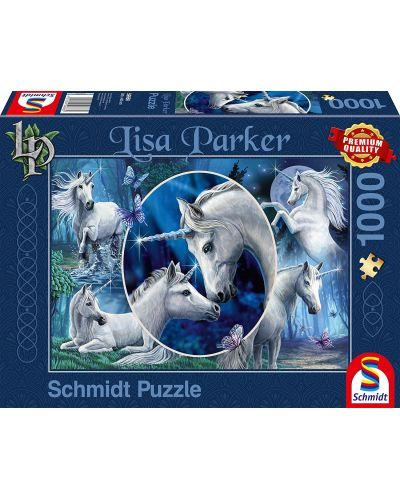 Пъзел Schmidt от 1000 части - Приказни еднорози, Лиса Паркър - 1