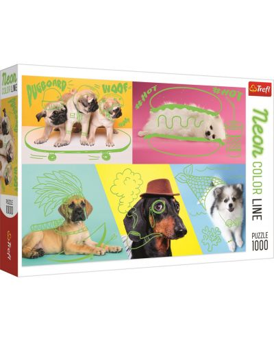 Пъзел Trefl от 1000 части – Странни кучета - 1