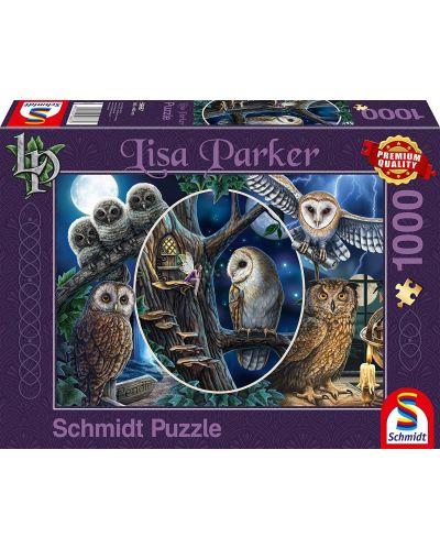 Пъзел Schmidt от 1000 части - Мистериозните сови, Лиса Паркър - 1