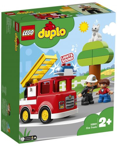 Конструктор Lego Duplo - Пожарникарски камион (10901) - 7
