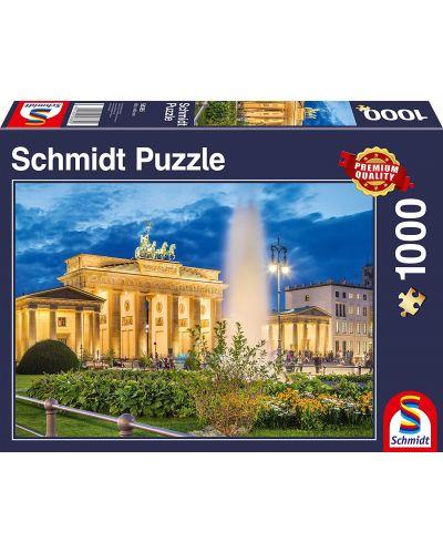 Пъзел Schmidt от 1000 части - Бранденбургската врата, Берлин - 1