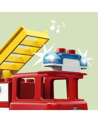 Конструктор Lego Duplo - Пожарникарски камион (10901) - 8