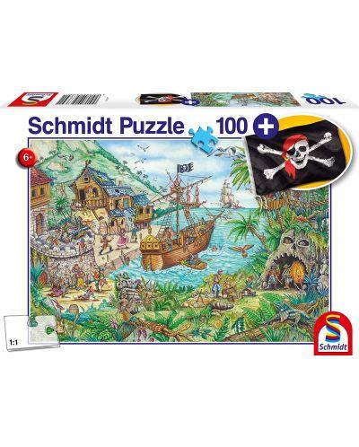 Пъзел Schmidt от 100 части - Пиратски остров, с пиратско знаме - 1