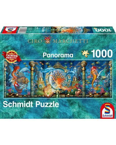 Панорамен пъзел Schmidt от 1000 части - Подводен свят, Чиро Марчети - 1