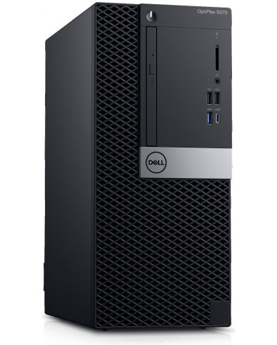 Настолен компютър Dell Optiplex - 5070 MT, черен - 2
