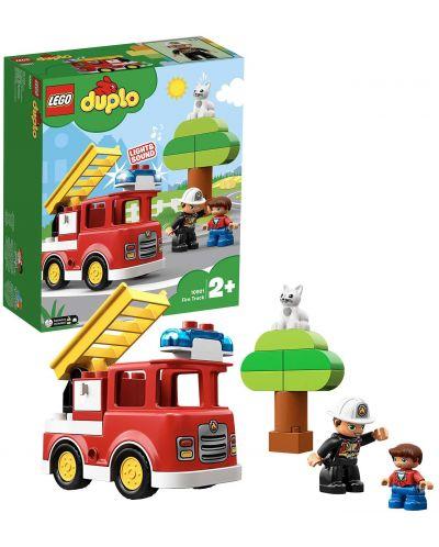 Конструктор Lego Duplo - Пожарникарски камион (10901) - 5