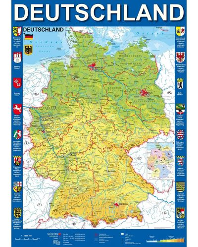 Пъзел Schmidt от 1000 части - Карта на Германия - 2