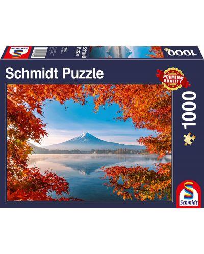 Пъзел Schmidt от 1000 части - Есенна магия край Фуджи, Япония - 1